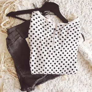loft polka dot sweater